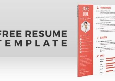 Freebie: Flat Resume Template