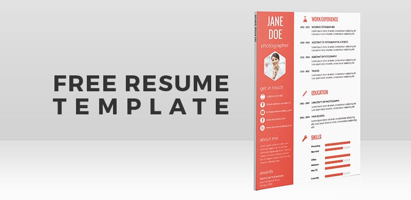 Freebie: Flat Resume Template