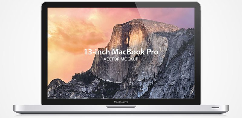 Exclusive Freebie: Macbook pro vector mockup