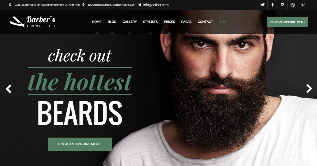 Barber Hair Salon WordPress Theme