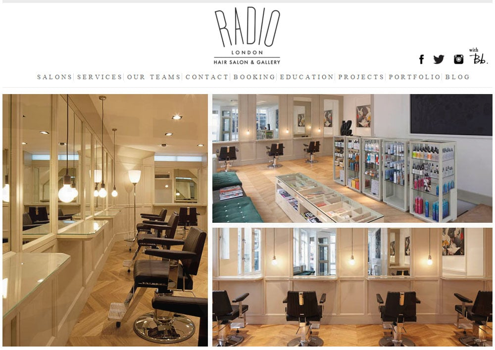 Hair Salon Website 01