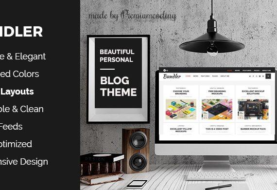 Free WordPress Theme: Bundler – Minimal Blog Theme