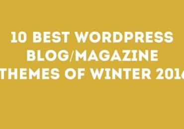 10 Best WordPress Blog/Magazine Themes Of Winter 2016