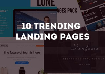10 Trending landing pages