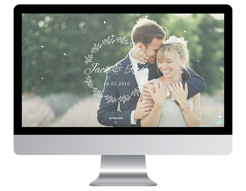 Minimal WordPress Wedding theme