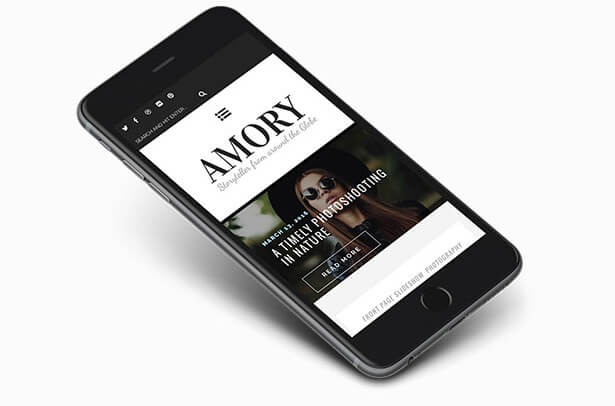 Amory - Premium WordPress Blog Theme for Creatives