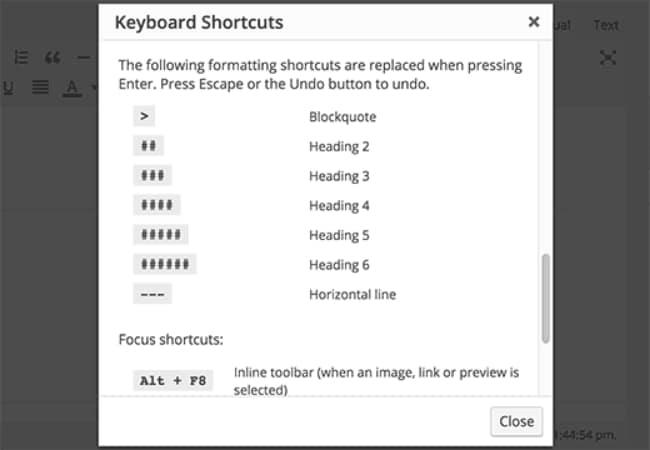 Text Shortcuts