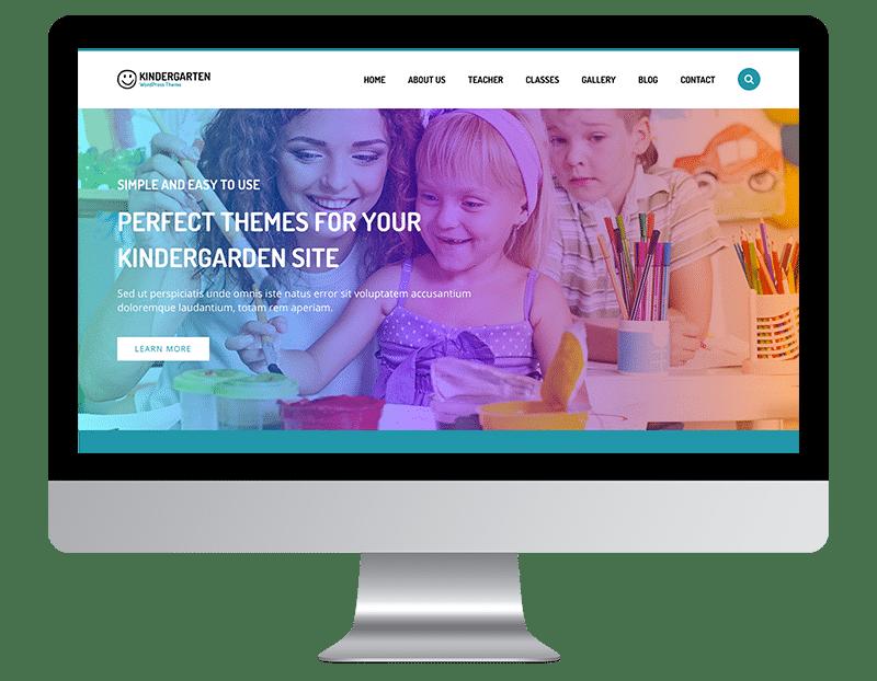 Kindergarten Is a playful and responsive WordPress theme.