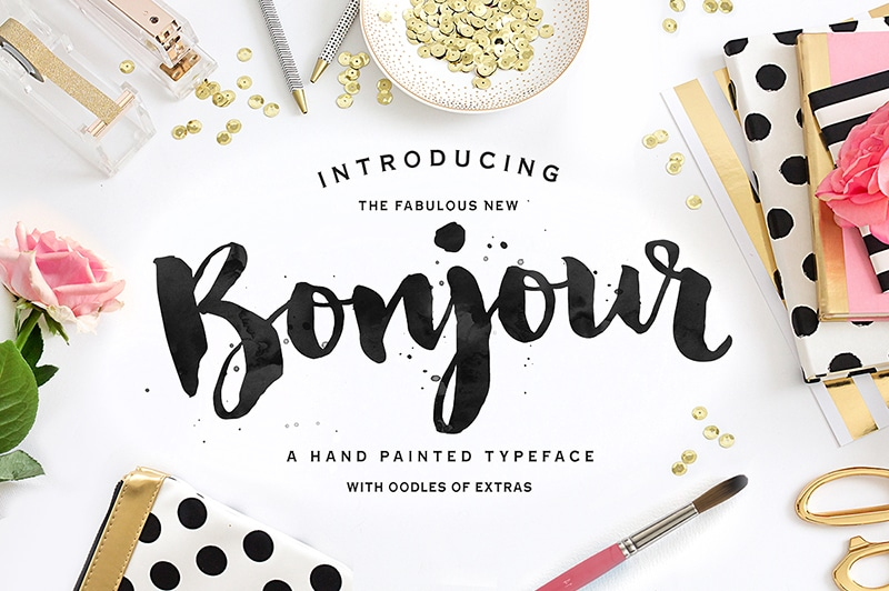 Beautiful handwritten font.
