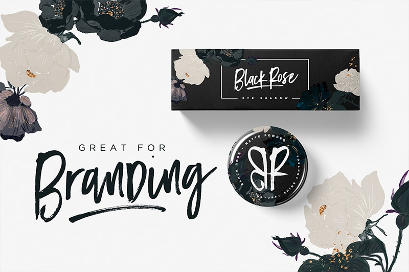 Black Diamond is a special hand painted brush font.