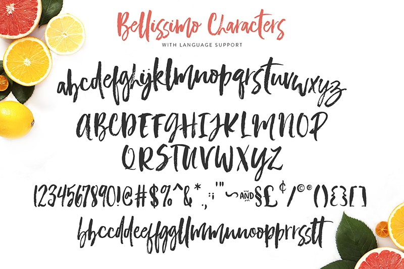 Bellissimo a trendy, handwritten font made for branding.