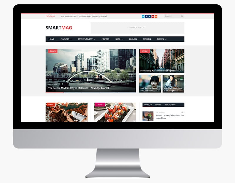 SmartMag is a modern magazine theme from our Colourful WordPress Themes list