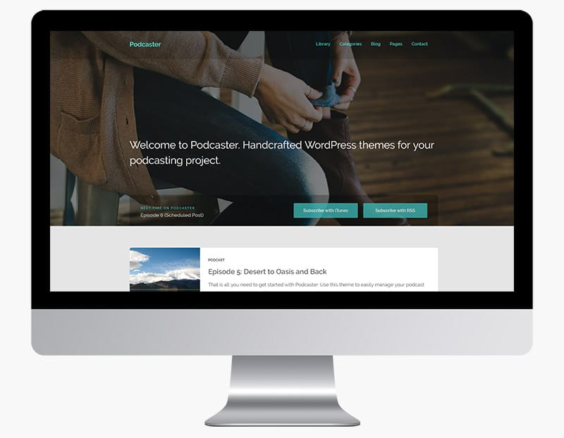 Podcaster is a minimal responsive WordPress theme.