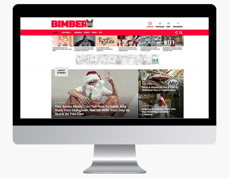 Bimber is a colourful magazine theme.