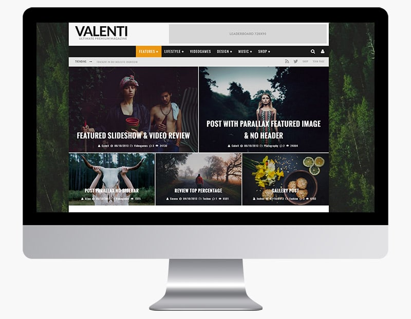 Valenti is a review magazine theme.