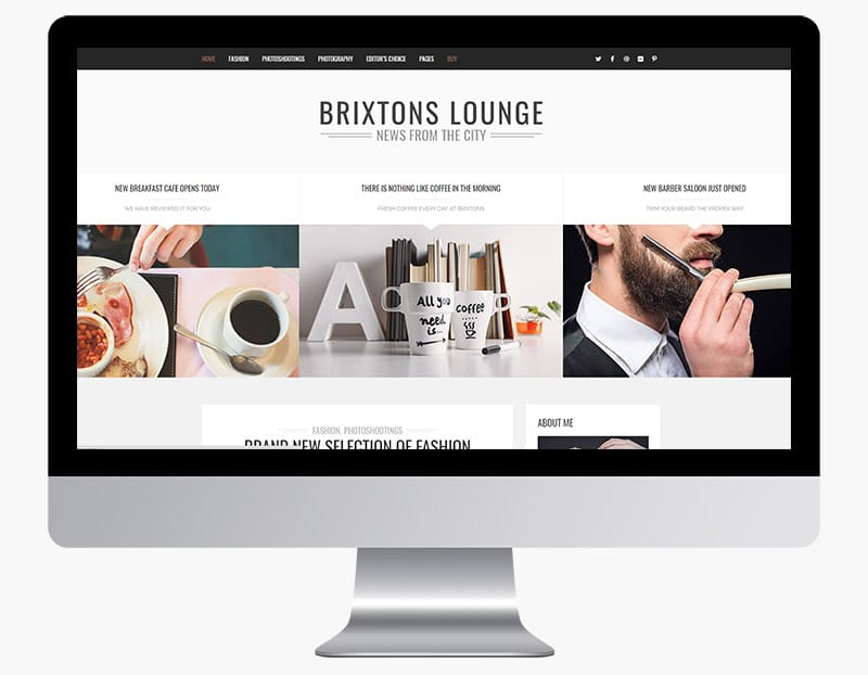 Brixton is a unique, modern blog theme.