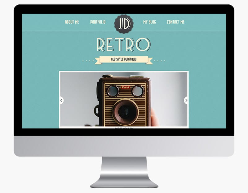 Retro Portfolio is a one page theme in a vintage style.