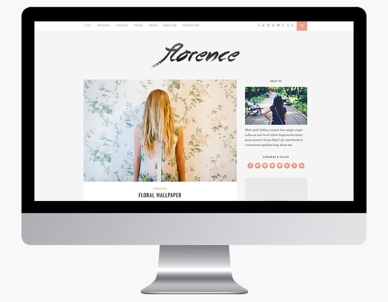 Florence is a classy and modern blog theme.