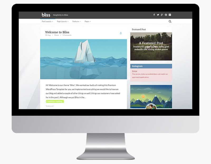 Bliss is a delightful and responsive blog theme.