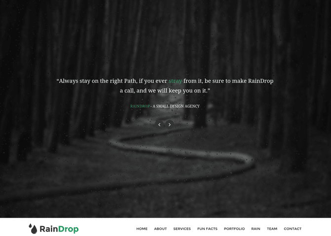 rain-drop-wp-theme