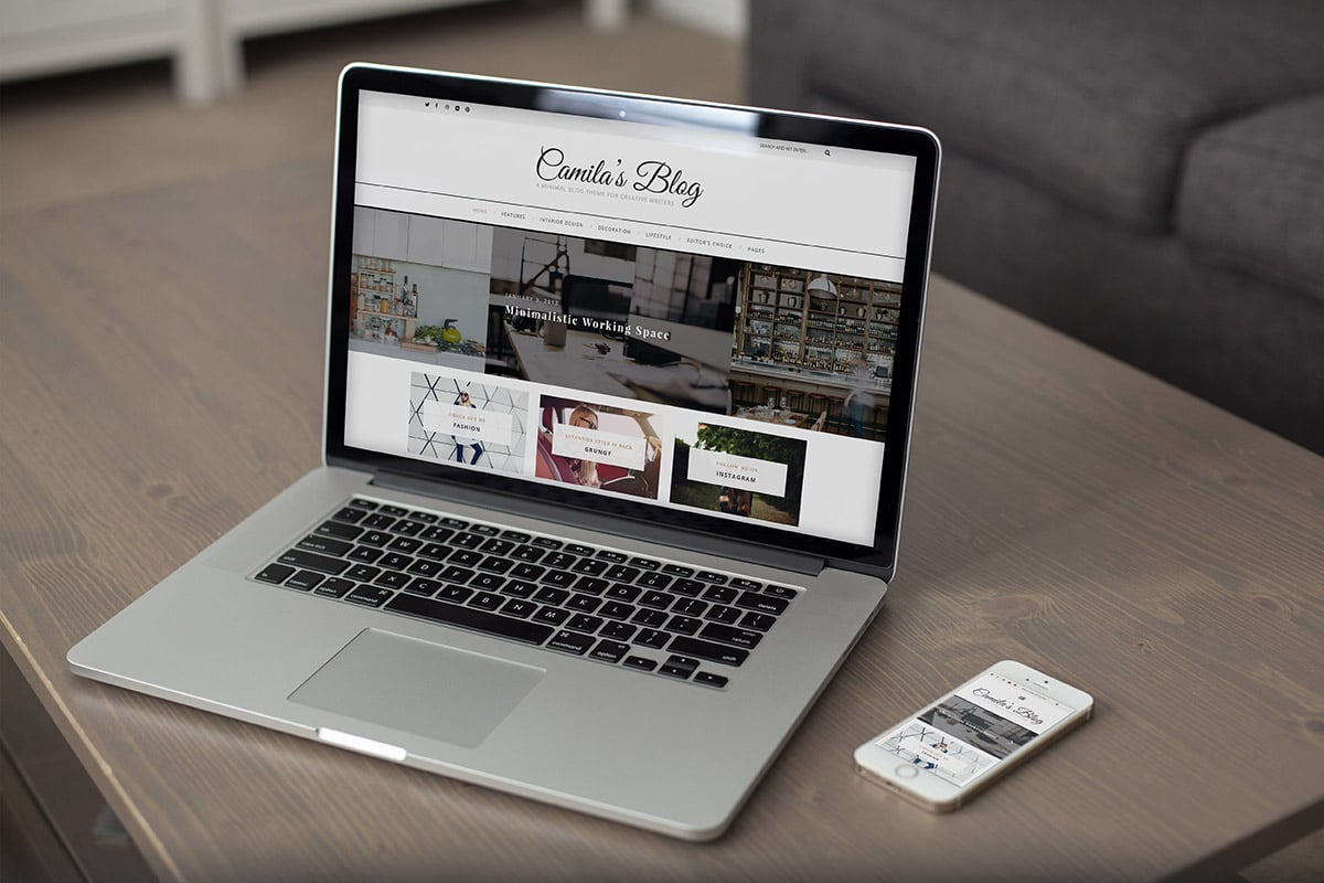 Camila - WordPress Blog Theme is fully responsive