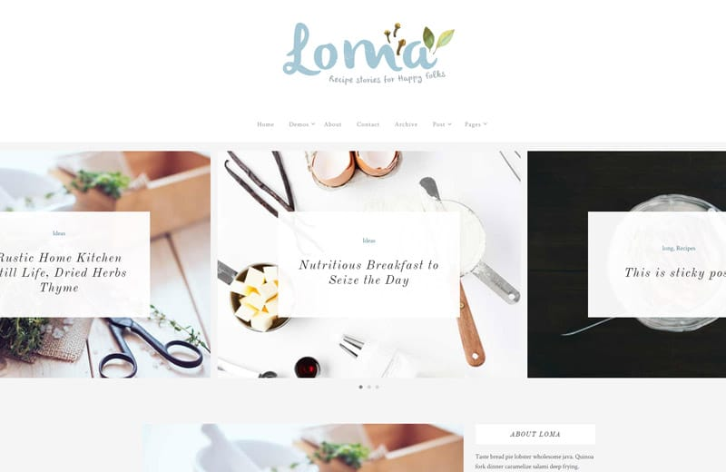 loma-wordpress-blog-theme