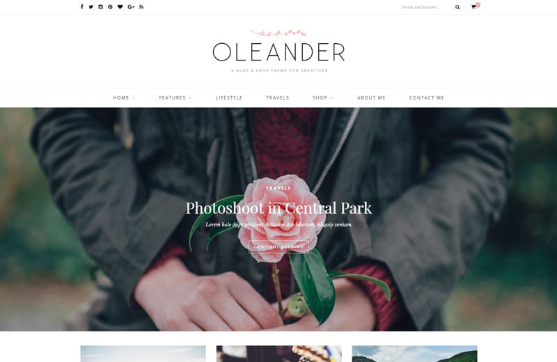 oleander-wordpress-blog-theme