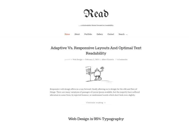 read-wordpress-blog-theme