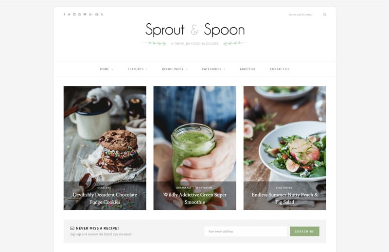 sproutspoon-wordpress-blog-theme