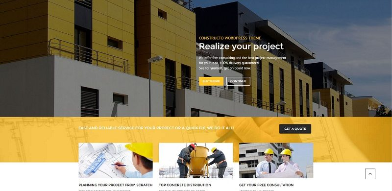 20+ Best Construction WordPress Themes 2019