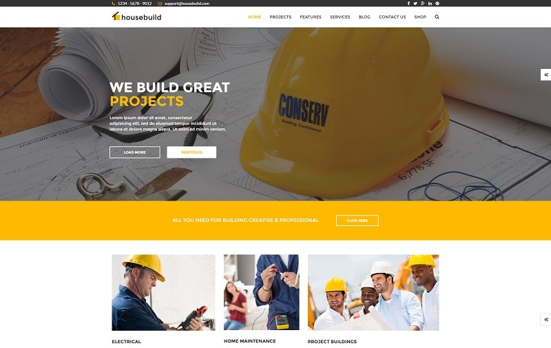 20 best construction wordpress themes 2017