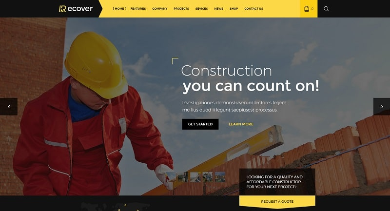 recover-construction-wordpress-theme