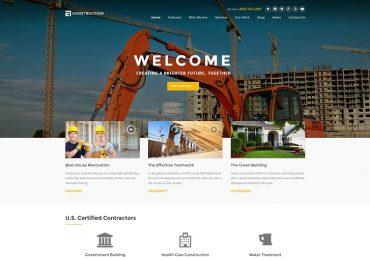 20 Best Construction WordPress Themes