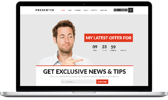 Presenter – Theme for Entrepreneurs