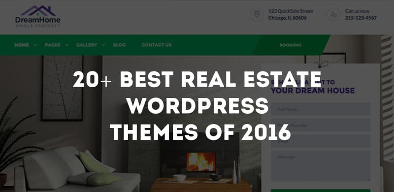 20+ Best Real Estate WordPress Themes of 2016