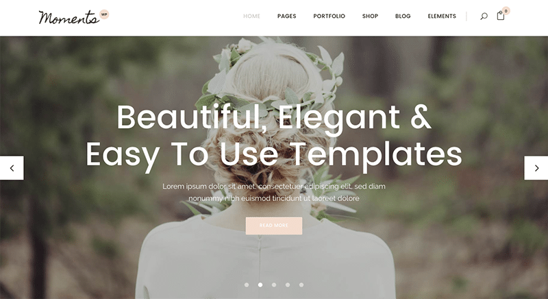 Beautiful WordPress Wedding Theme