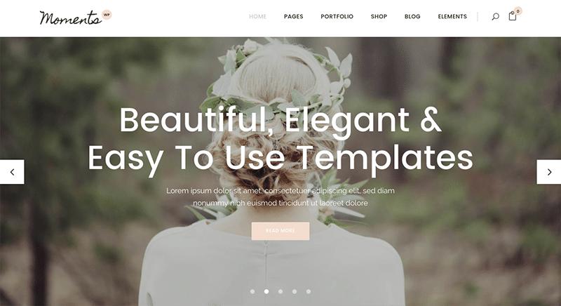 Beautiful WordPress Wedding Theme