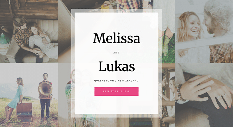Beautifully designed, mobile-friendly WordPress wedding theme