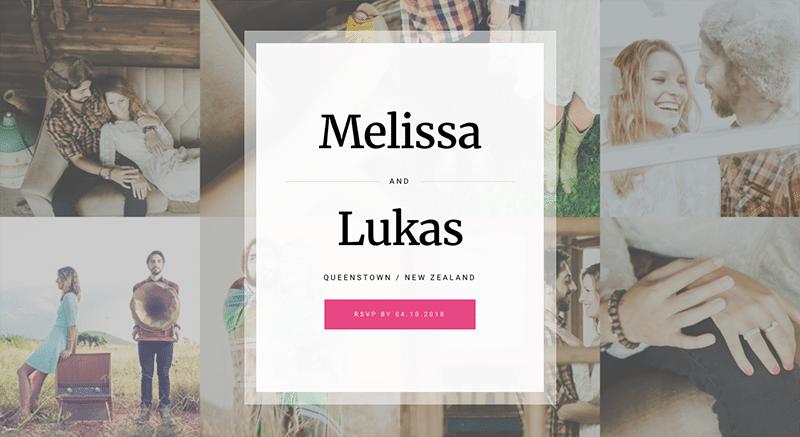 Beautifully designed, mobile-friendly WordPress wedding theme