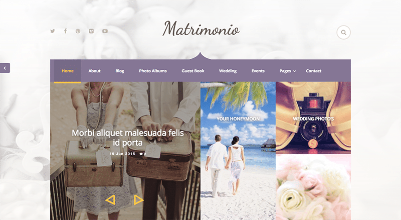 Perfect solution for ceremony websites