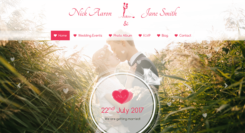 Responsive Wedding Theme