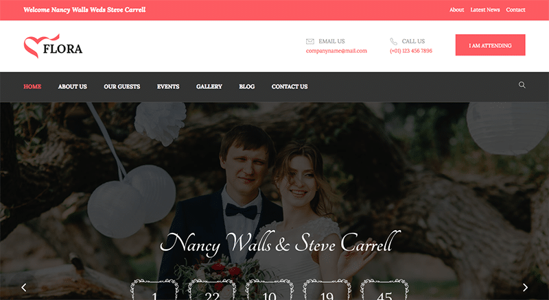 Enchanting WordPress theme for Weddings