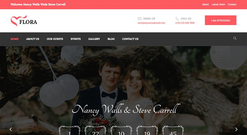 Enchanting WordPress theme for Weddings
