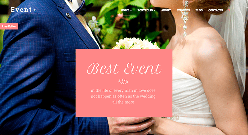 Creative WordPress Theme for Weddings