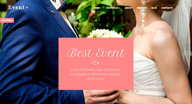 Creative WordPress Theme for Weddings