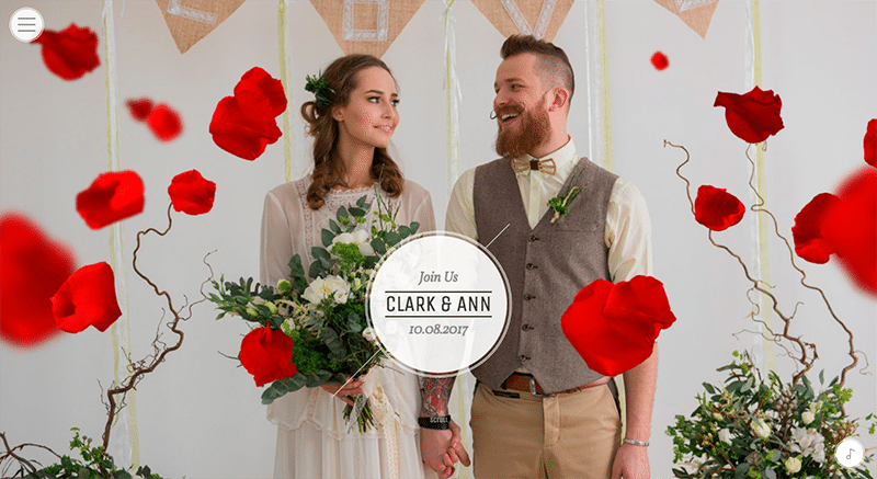 Modern site Wedding theme