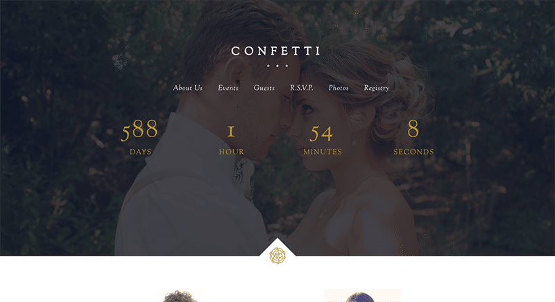 Multi functional wedding WordPress theme