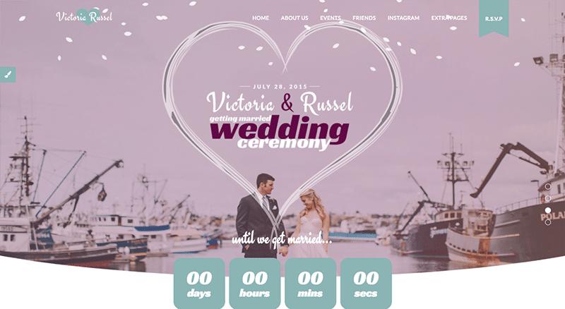 Beautifully enchanted WordPress Wedding theme