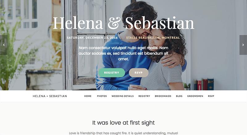 One-page WordPress Wedding theme