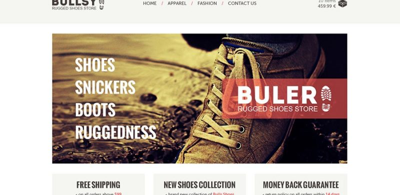 Freebie: Buler Ecommerce Website PSD Template